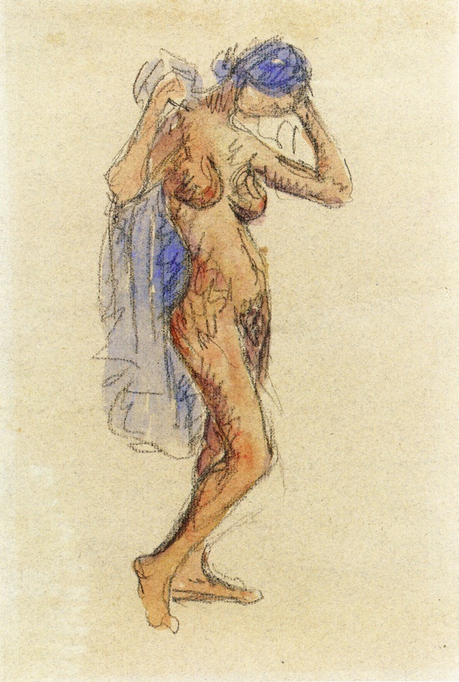Nude Model with Drapery, Maurice Prendergast