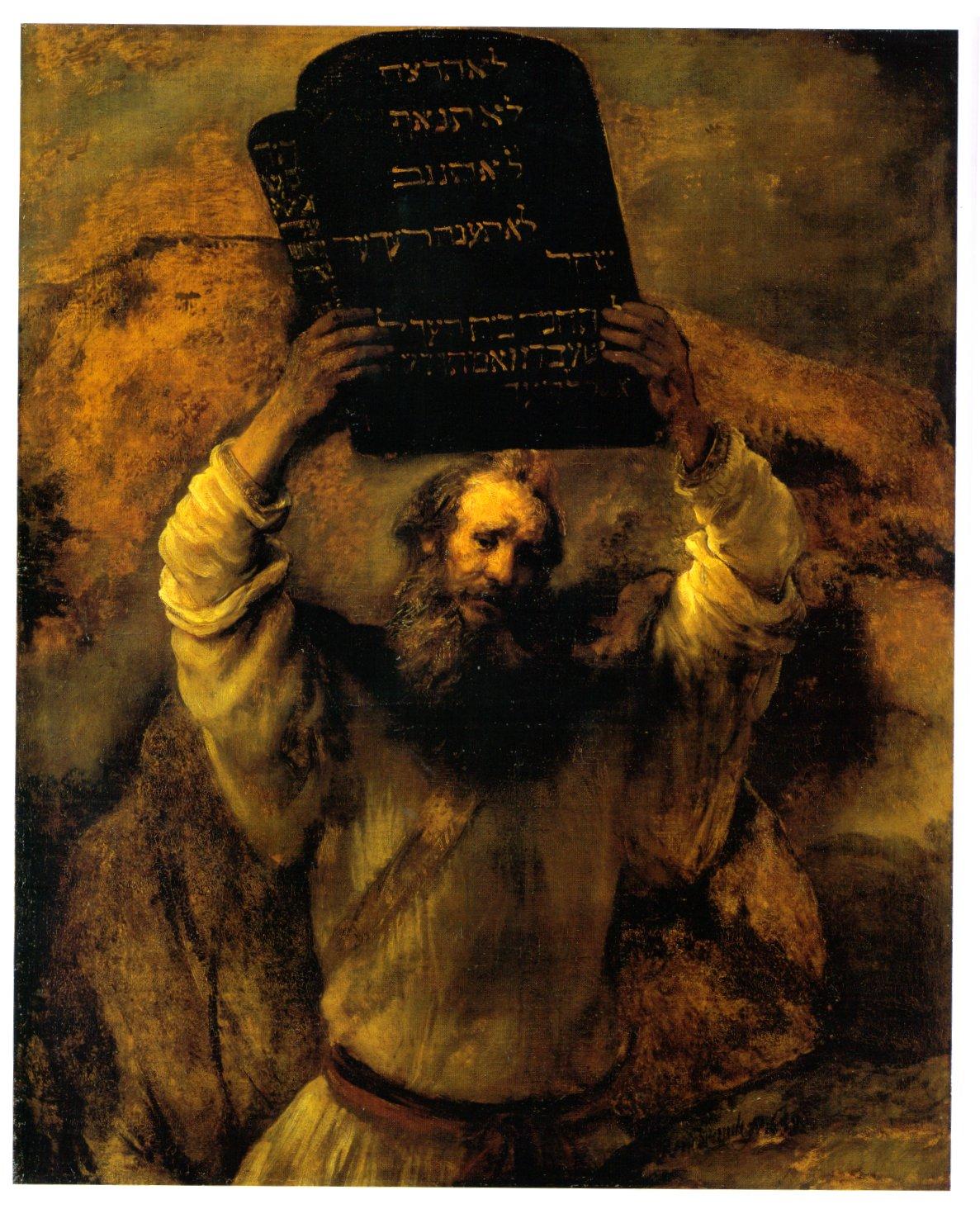 Moisés prestes a quebrar a tábua das leis